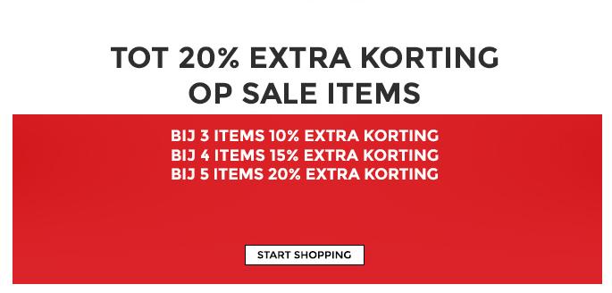 10-20% EXTRA korting op de sale @ Score