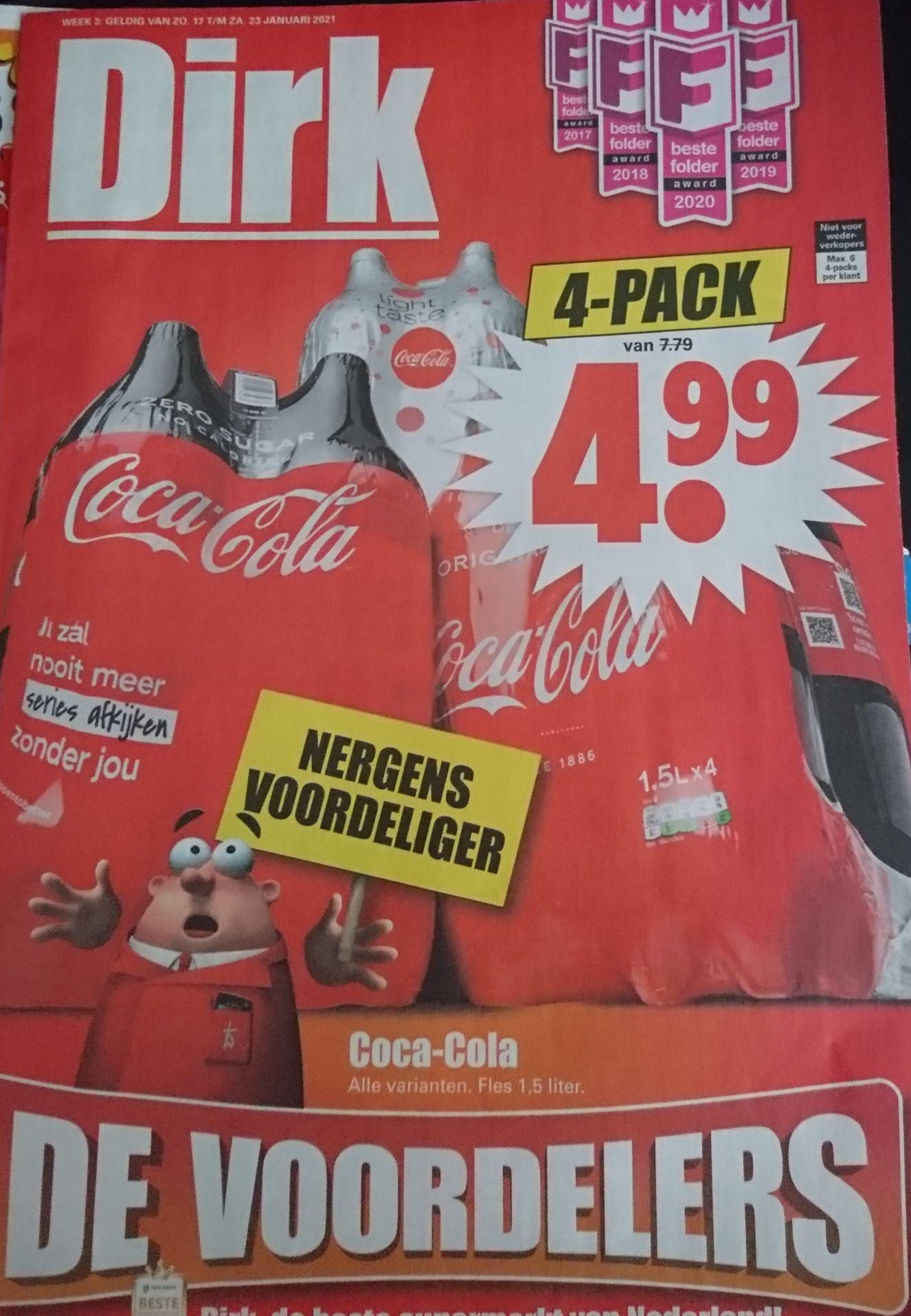 Coca Cola 4 pack 1,5 liter flessen
