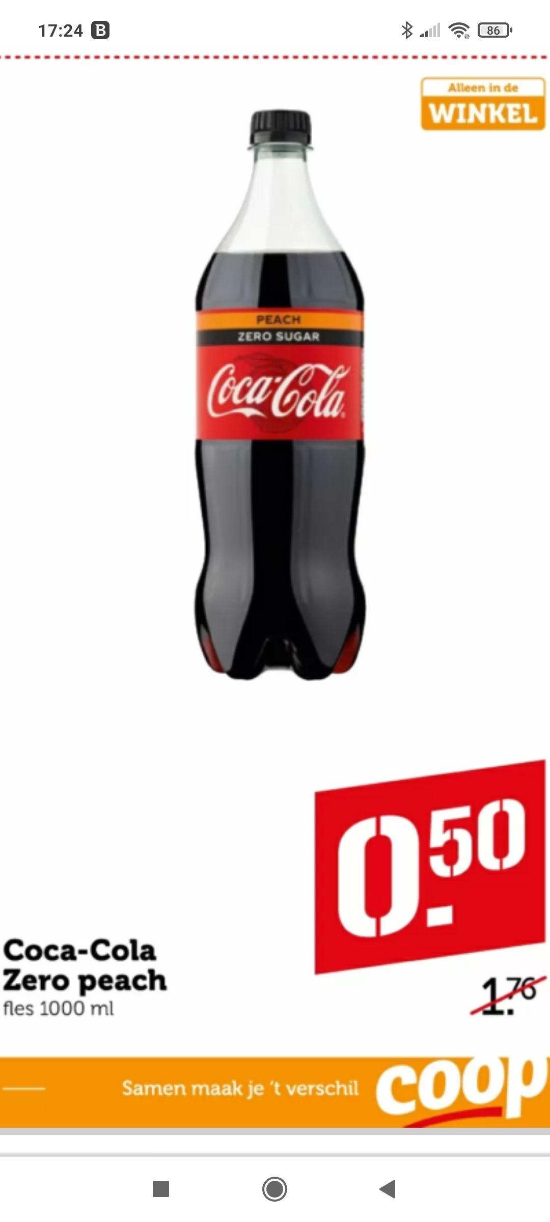 Coca cola peach @coop