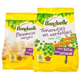 Alle 18 varianten Bonduelle Vriesverse groente 2 zakken voor €2 @ Plus