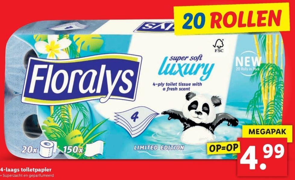 [20 rollen] Panda wc papier - zacht voor de billetjes en leuke kleur! @lidl
