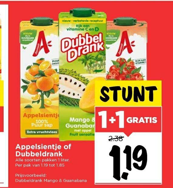 1 liter appelsientje voor nog geen 60 cent bij de Vomar!!