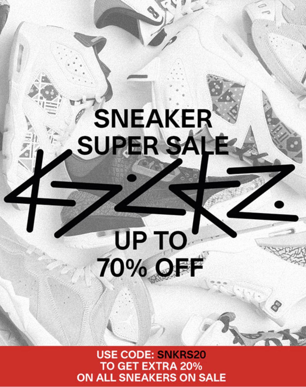 20% extra korting op sneakers in de sale