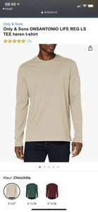 Only & Sons ONSANTONIO LIFE REG LS TEE heren t-shirt