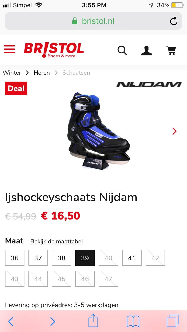 IJshockeyschaatsen Nijdam