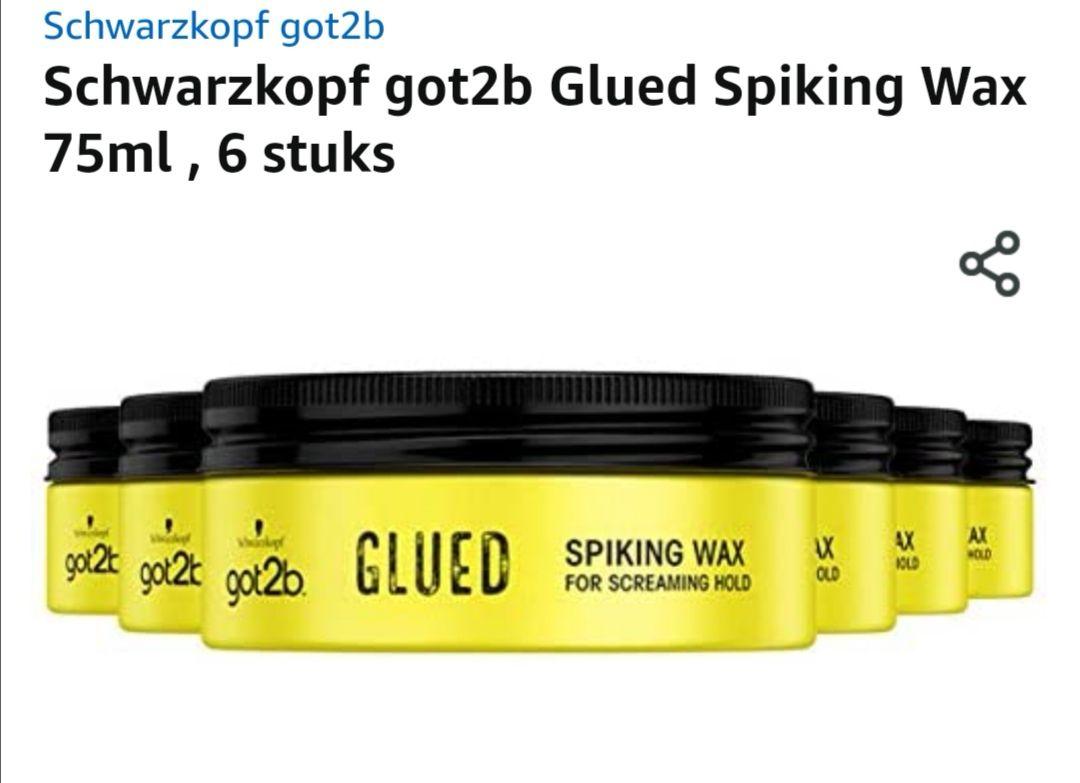 Schwarzkopf got2b Glued Spiking Wax 75ml , 6 stuks