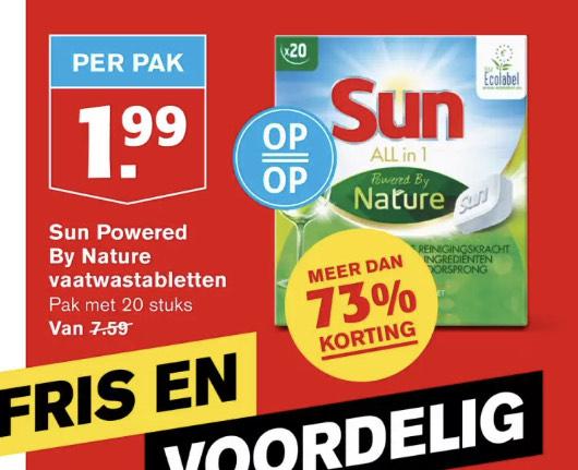 Sun powered by Nature vaatwastabletten 20st.