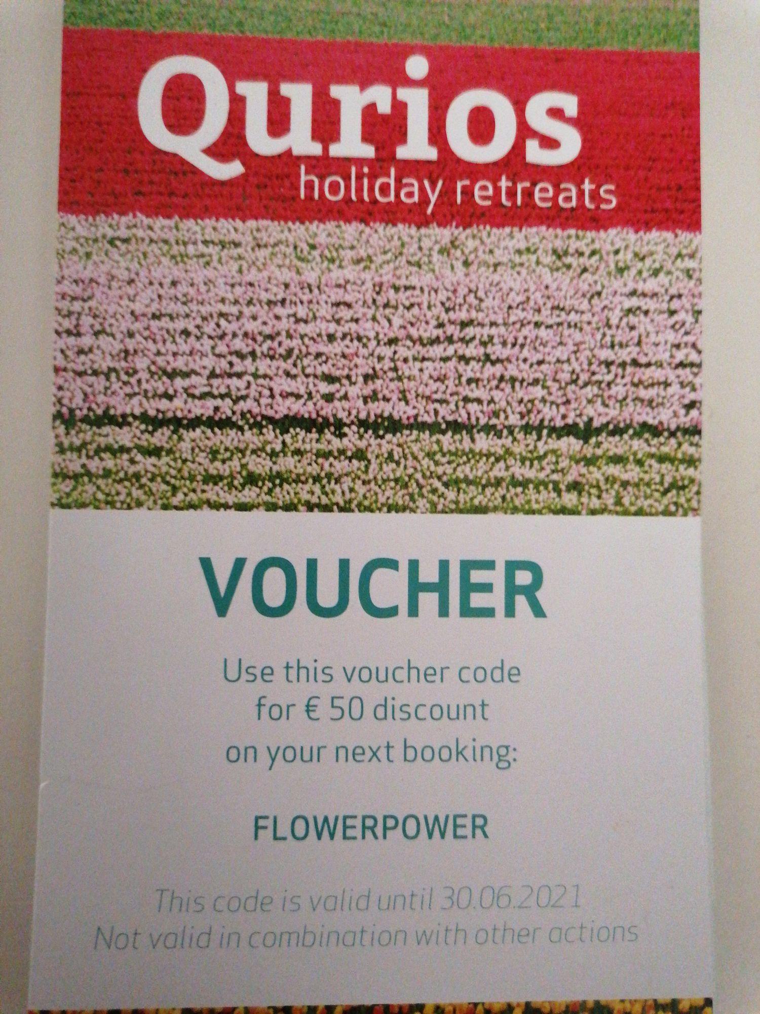 €50 korting op je verblijf Qurios