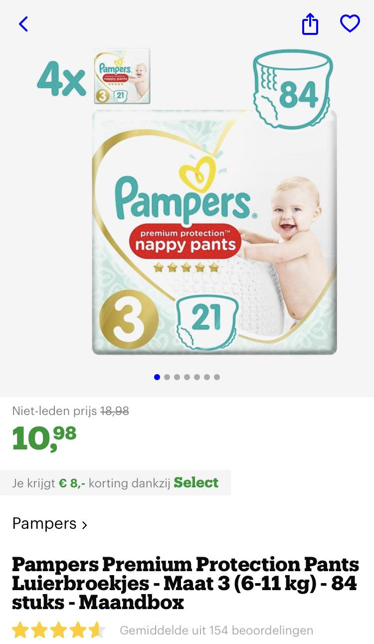 [select deals bol.com] Pampers Premium Protection Pants Luierbroekjes - Maat 3 (6-11 kg) - 84 stuks - Maandbox zie beschrijving voor meer!!!
