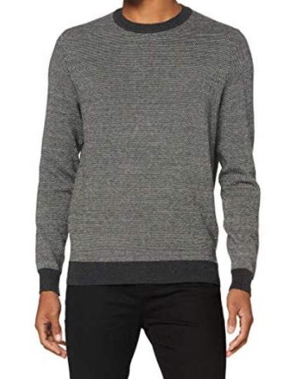 Superdry Orange Label Crew Heren Sweater Dark Charcoal