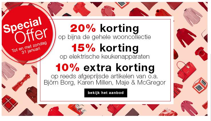 10% EXTRA korting op bijna 3000 fashion sale items @ De Bijenkorf