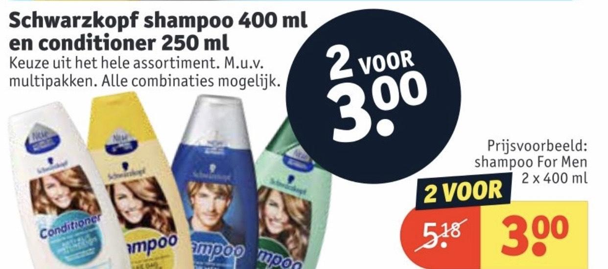 Schwarzkopf Shampoo en Conditioner €1,50