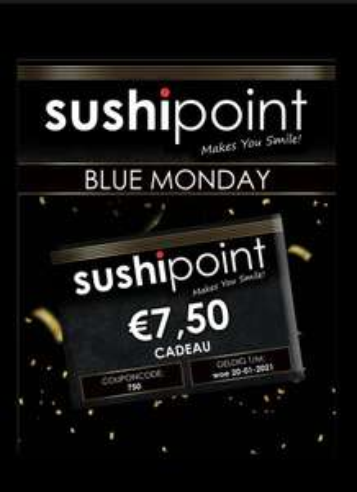 €7,50 korting bij SushiPoint