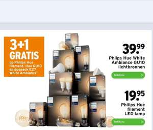 Philips Hue, 3 + 1 gratis.