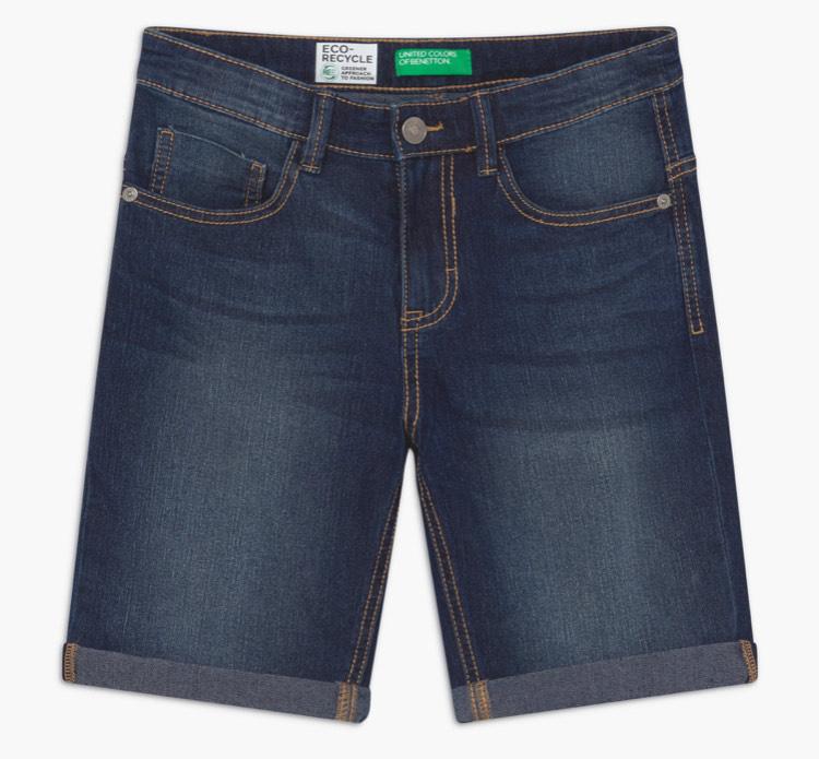 Benetton Jeans Short Heren