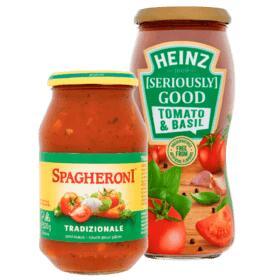 Alle potten Heinz Pastasaus of Spagheroni voor €1 @ Plus (tot 61% korting)