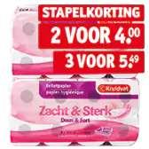Drie pakken Kruidvat Zacht & Sterk 3-laags Toiletpapier voor €5,49