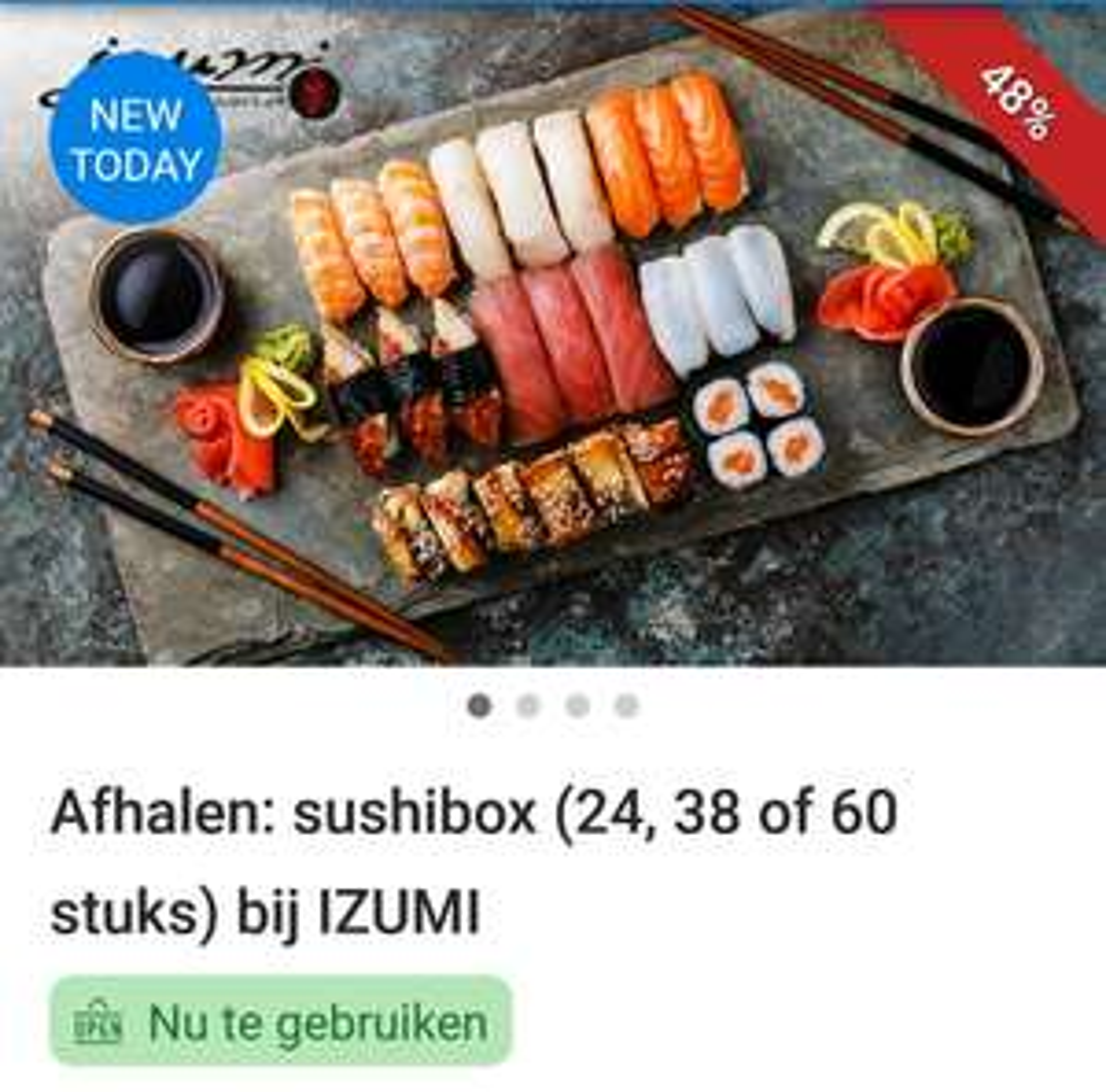 Sushi boxen bij Izumi in Helmond (24, 38 of 60 stuks)