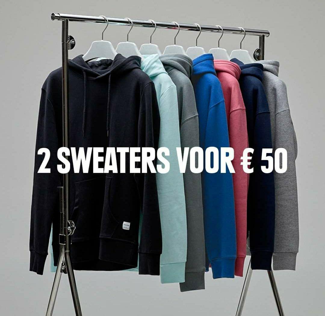 2 sweaters voor 50 euro bij Jack & Jones