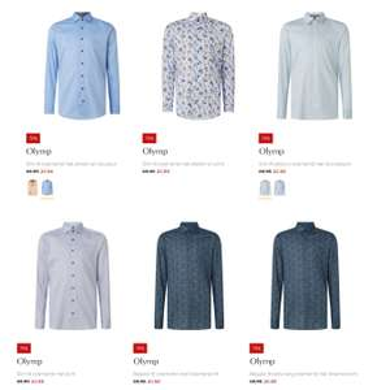 OLYMP overhemden -80% [keuze uit 30 verschillende] @ De Bijenkorf