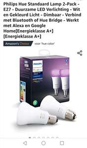 Hue 2-pack white & color