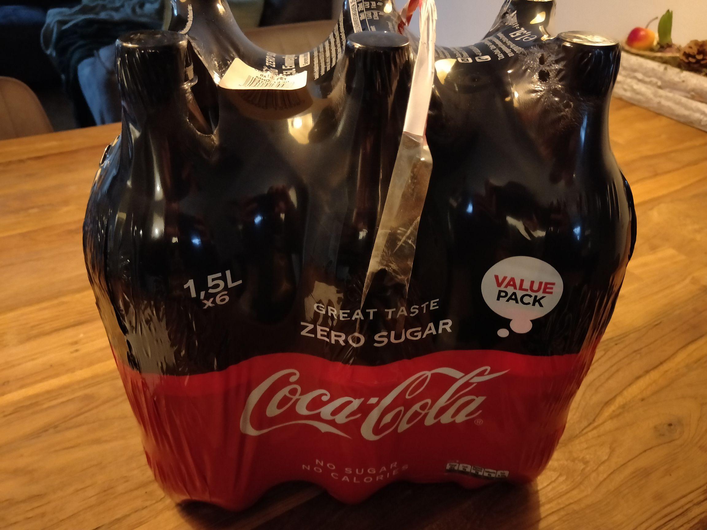 Coca Cola zero 1,5 l voor €0,50 per fles bij Die Grenze Assen!