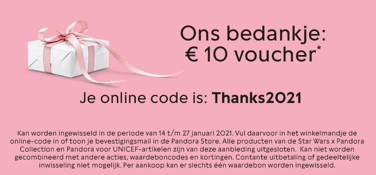 €10 Pandora voucher vanaf €69