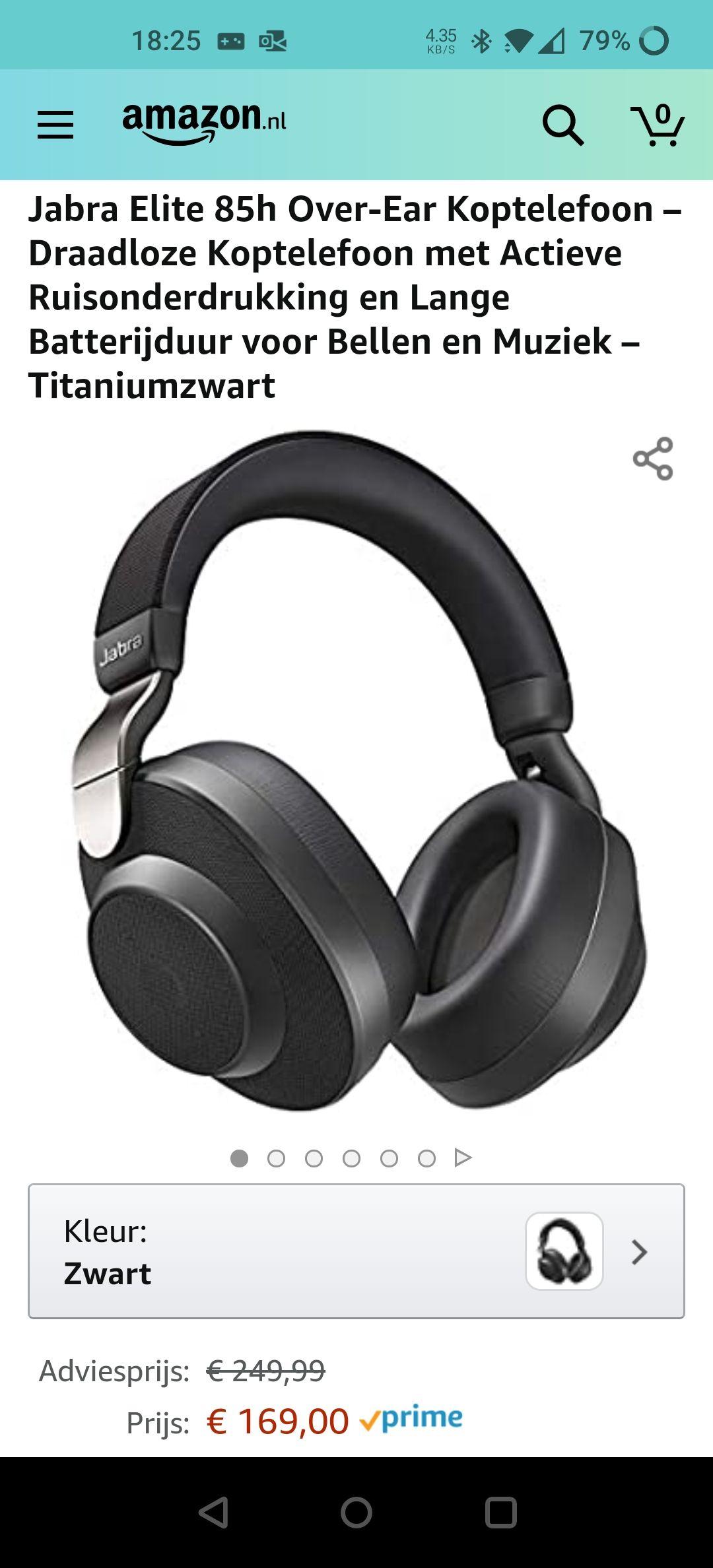 Jabra NC 85h Bluetooth koptelefoon