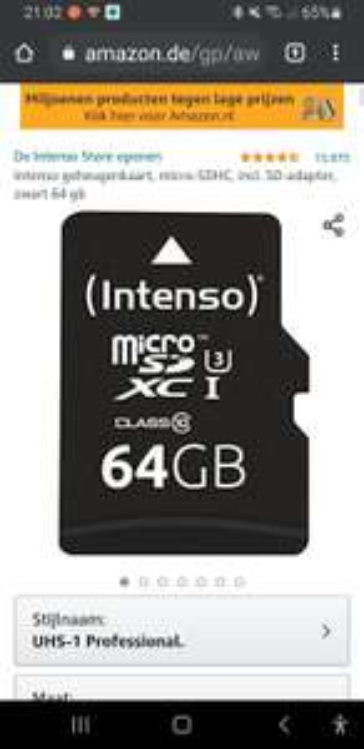 Intenso 64GB microsd uhs-1 3,90