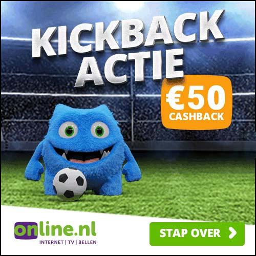 [Online.nl] Internet 100 mb/s Glasvezel + TV - Dubbel cashback € 50 en € 40 + Geen aansluitkosten á € 30