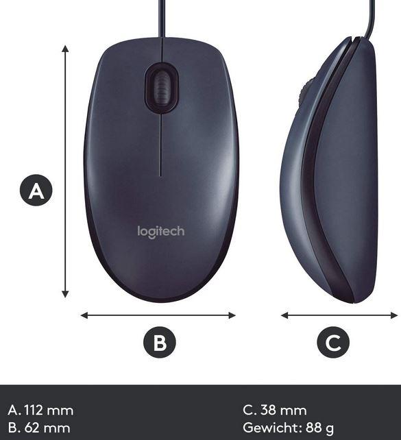 Logitech B-100 mouse/muis voor 4,90 eur. (>20eur geen bezorgkosten).