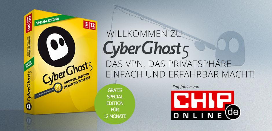 1 jaar gratis CyberGhost 5 Special Edition (VPN)