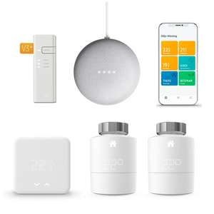 tado° Thermostaat V3+ starterkit met 2 radiatorknoppen + Google Nest Mini @ Tink