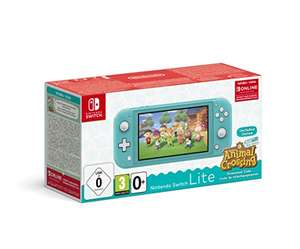 Nintendo Switch Lite Blauw/Roze + Animal Crossing Edition + 3 maanden Switch online.