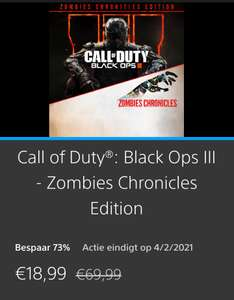 [PS4] Call of Duty Black Ops 3 Zombie Chronicles Edition