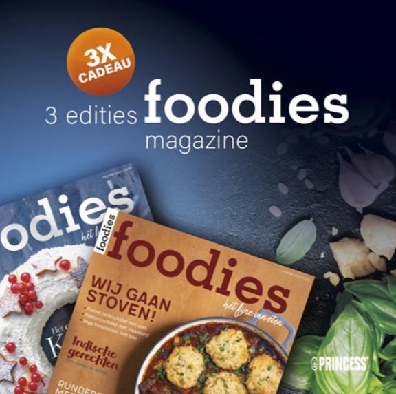 Gratis 3x Foodies Magazine bij aanmelding Princess nieuwsbrief