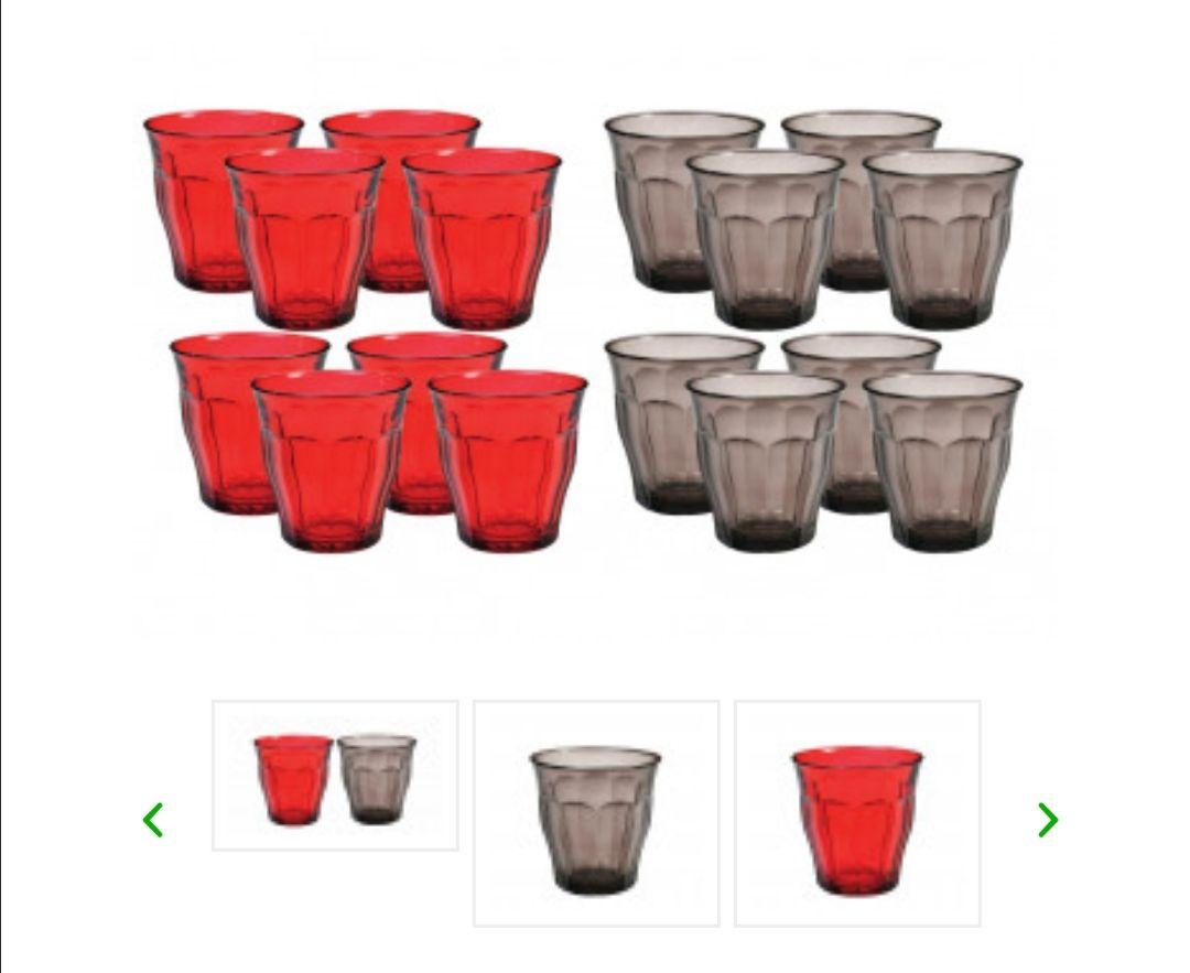 16-Pack Duralex Picardie gekleurde glazen