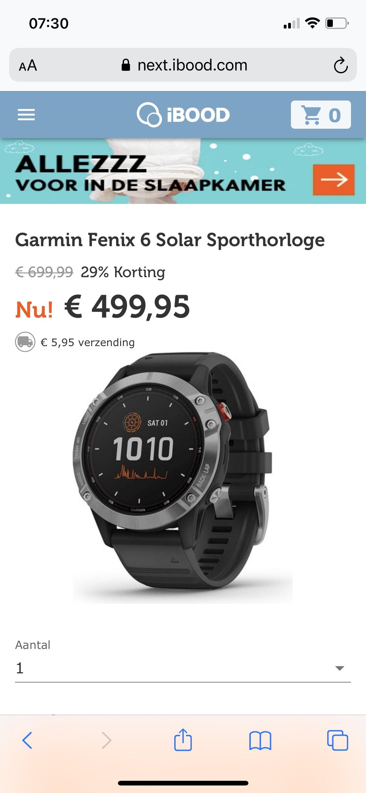 Garmin Fenix solar 6