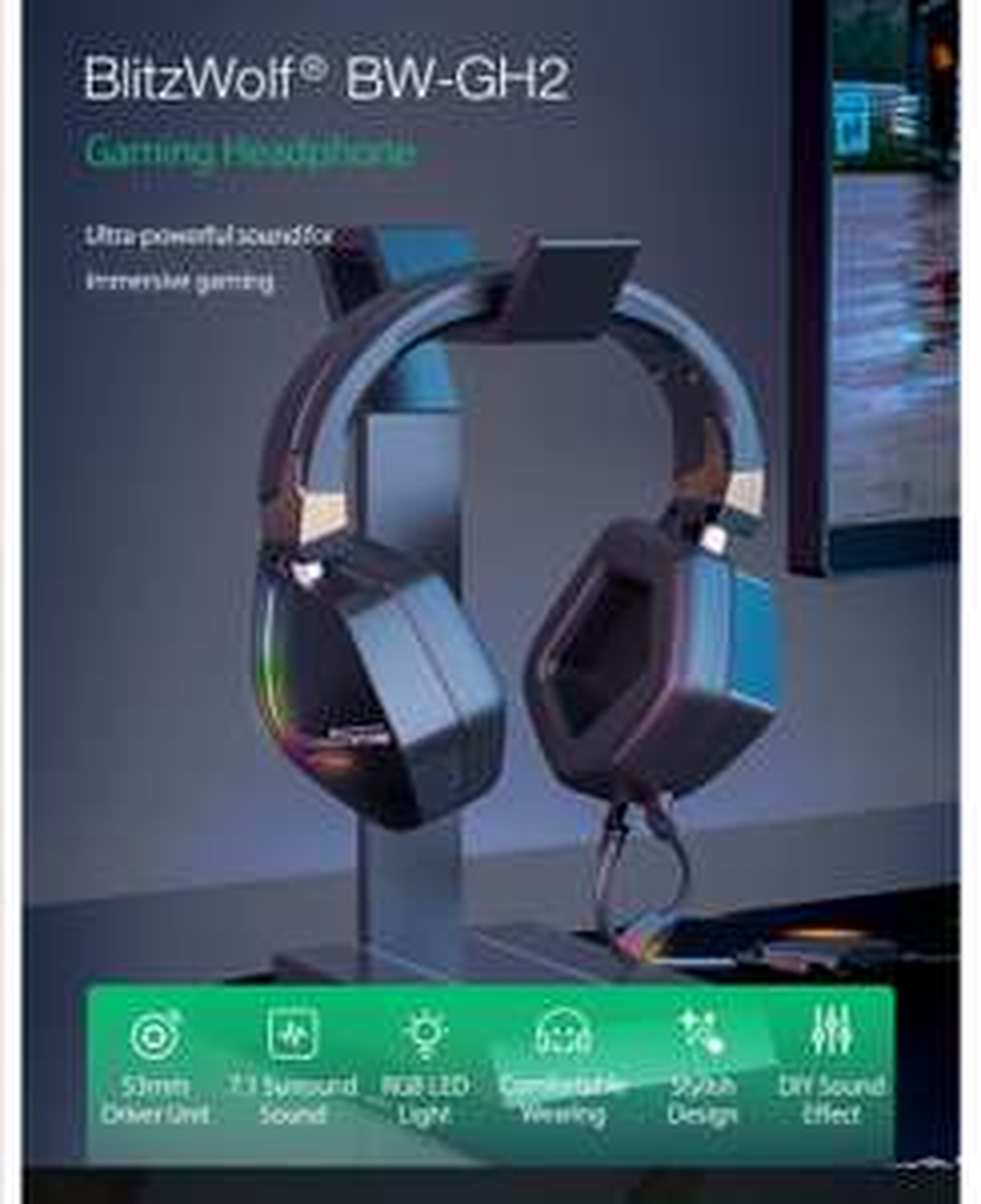 BlitzWolf® BW-GH2 7.1 Gaming Headphone