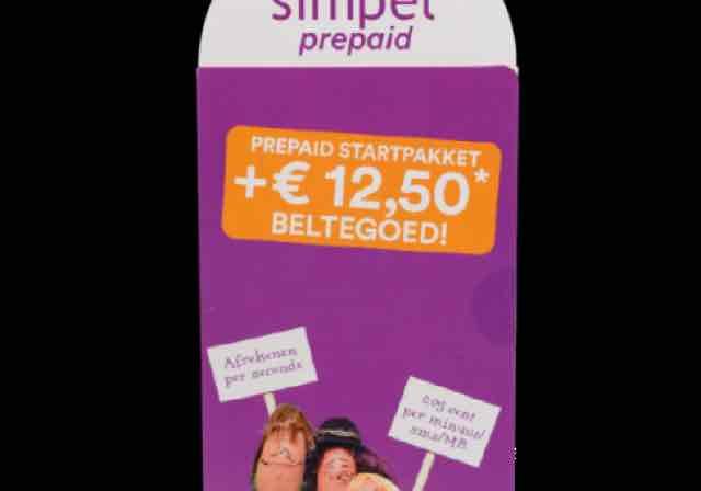 Simpel prepaid startpakket met €12,50 beltegoed voor €2,49 @ Action