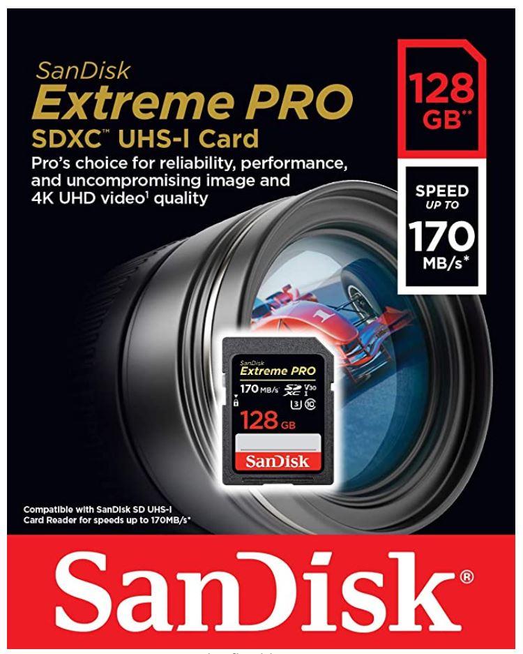 SanDisk Extreme Pro SDXC Geheugen Kaart 128GB