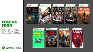 Nieuwe games in Xbox Game Pass (oa Desperados III en Yakuza serie)