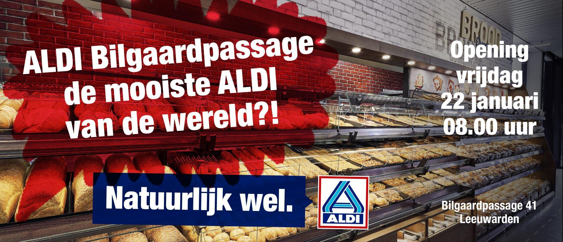 [Lokaal] Nieuwe opening, vanaf vrijdag een appeltaart voor €1,50 bij Aldi Bilgaardpassage in Leeuwarden