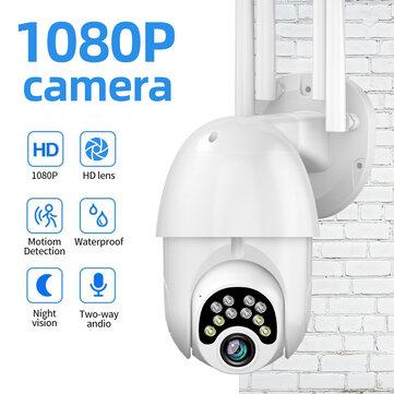 Guudgo beveilingscamera (1080P) met nachtzicht en audioverbinding