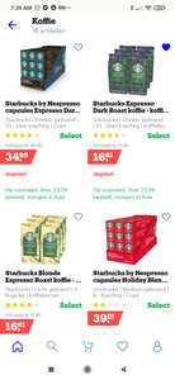 Starbucks koffie - 25% korting op alle soorten bij Bol.com