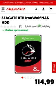 SEAGATE 8TB IronWolf NAS HDD
