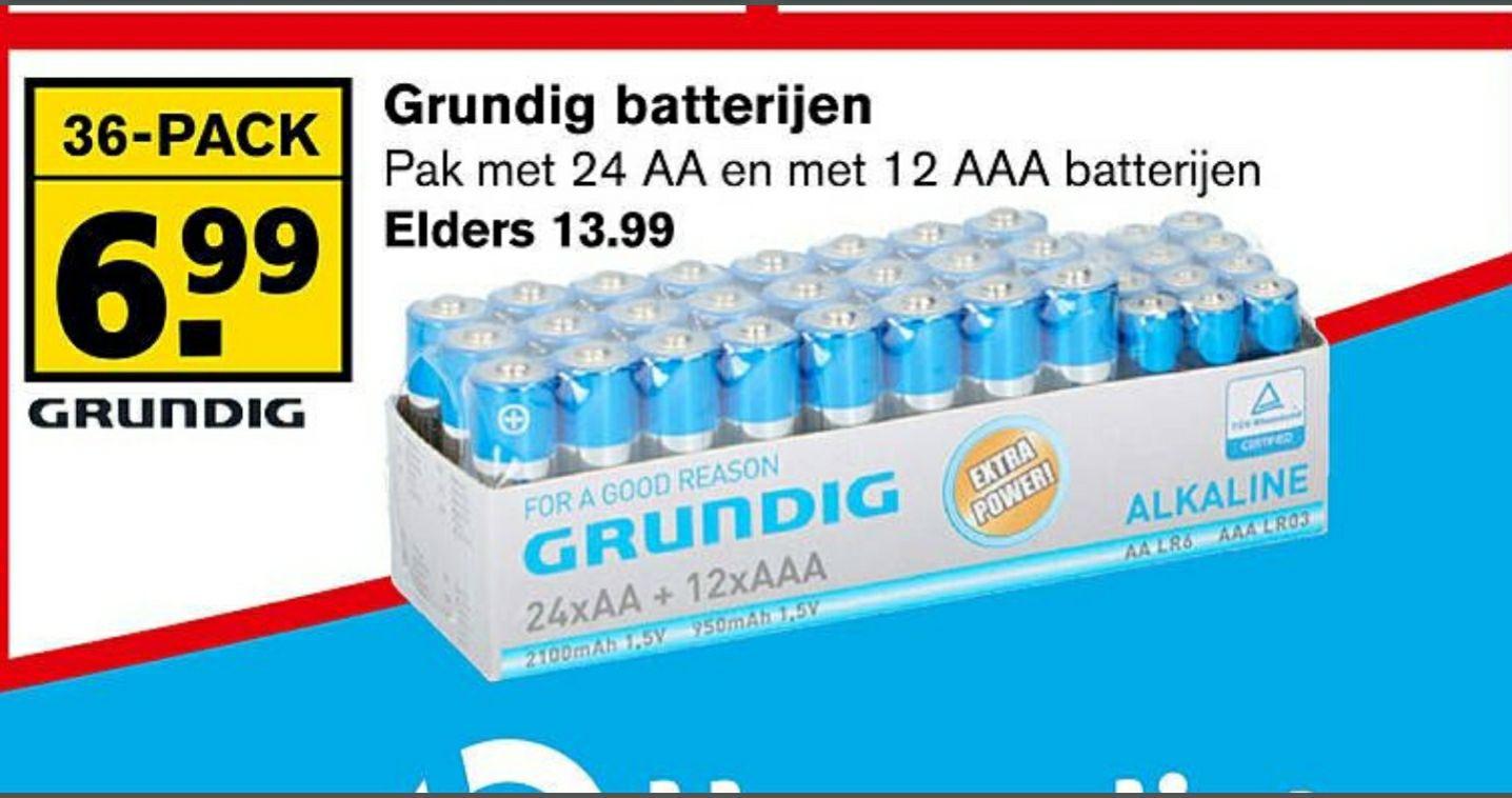 Grundig batterijen 36 pack ( 24st AA en 12st AAA)