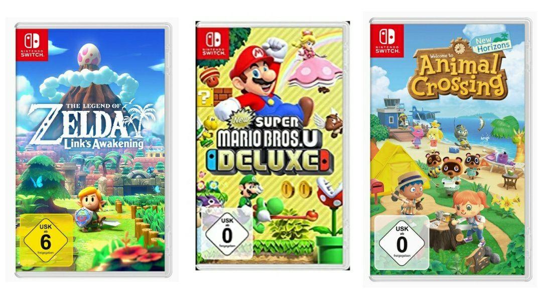3 halen 2 betalen bij geselecteerde Nintendo games @amazon.de