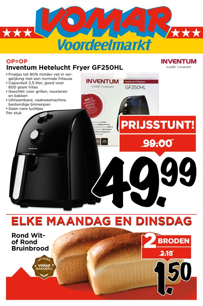 [update]inventum hetelucht fryer gf250hl voor 49,99 @ vomar