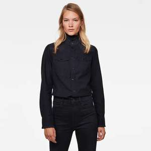 G-Star Western Kick Frill Slim Shirt Dames (Was €100,-..)